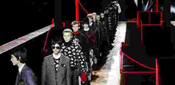 Desfile da coleção masculina da Dior na Semana de Moda de Paris - AFP