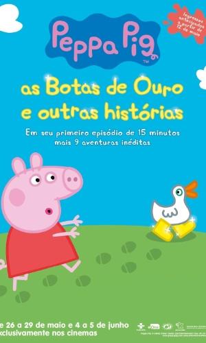 """Pôster do filme """"Peppa Pig - As Botas de Ouro e Outras Histórias"""""""