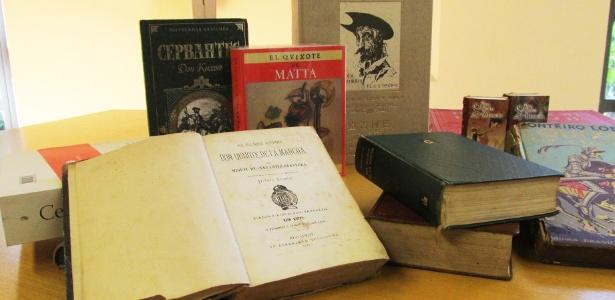 """Mostra em Brasília reúne 42 edições traduzidas e em mais de 20 idiomas do clássico """"Dom Quixote"""", de Miguel de Cervantes - Divulgação"""
