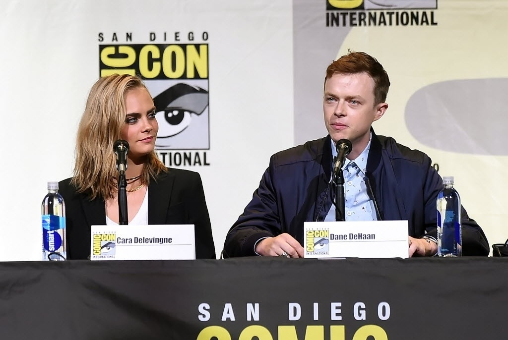 21.jul.2016 - Cara Delevingne e Dane DeHaan apresentam na San Diego Comic-Con o filme