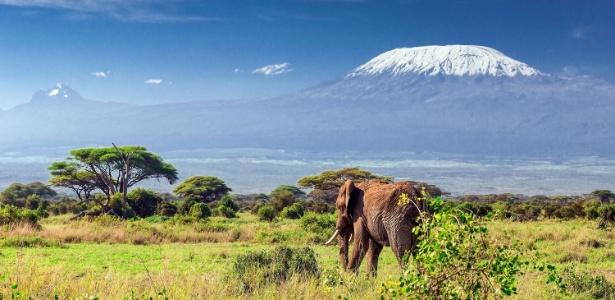 Kilimanjaro: Localizado na Tanzânia, o pico mais alto da África possui quase 6000m e é um dos principais símbolos da degradação ambiental do mundo.