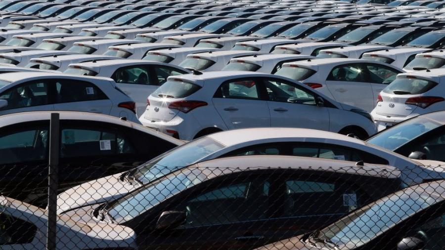 Pátio com carros da Hyundai Piracicaba (SP)  - Jorge Araujo/Folhapress -