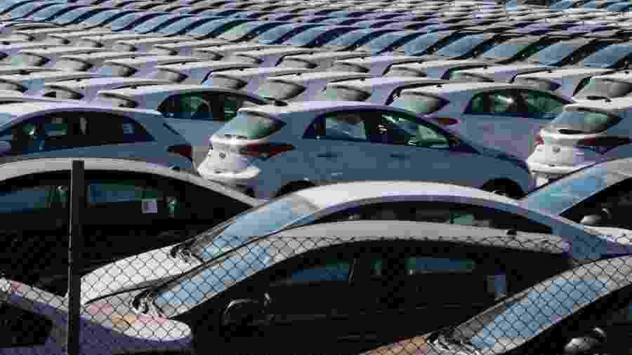Pátio da Hyundai em Piracicaba (SP)  - Jorge Araujo/Folhapress -