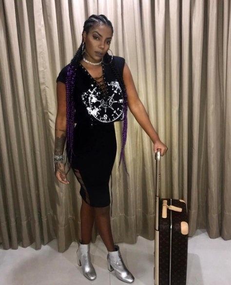 Ludmilla e sua mala Louis Vuitton