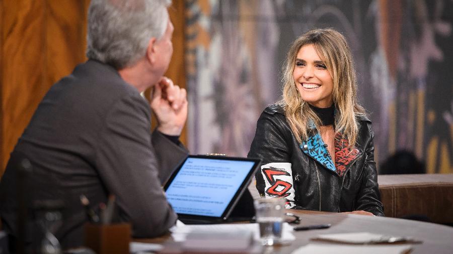 "Fernanda Lima é entrevistada no programa ""Conversa com Bial"" - Ramón Vasconcelos/TV Globo"