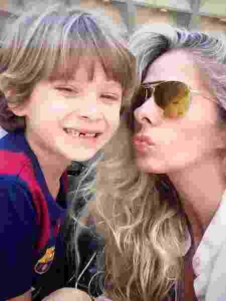 A atriz e o filho Vittorio, de 8 anos - Reprodução/InstagramGalisteuoficial
