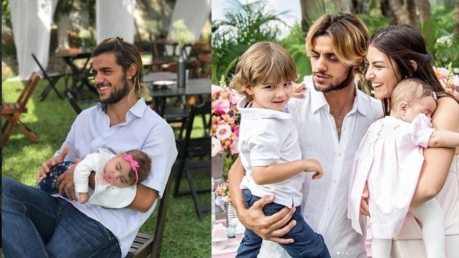 Pai de Joaquim, 3 anos e Maria, seis meses, Felipe Simas tem apenas 24 anos, mas mostra bastane maturidade quando o assunto é a paternidade. O ator é participativo, dá banho, troca fralda e conta historinhas para os filho na hora de dormir