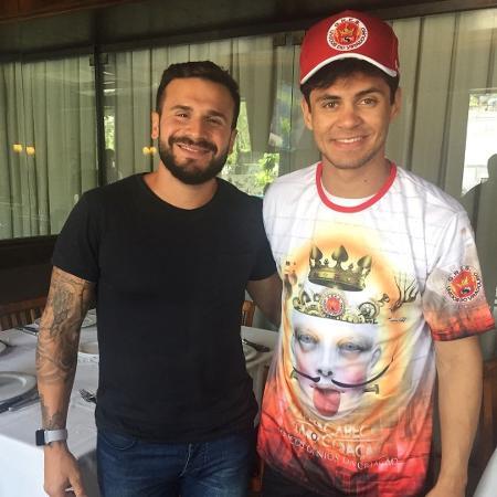 Marcelinho Calil, presidente da Viradouro, e o ator Lucas Veloso  - Instagram/Reprodução
