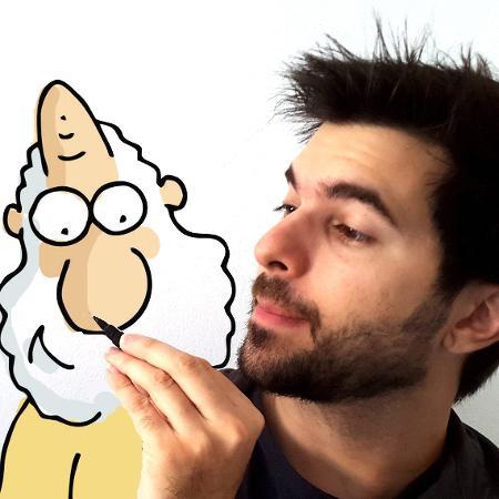 """O cartunista Carlos Ruas, responsável pelas tirinhas online """"Um Sábado Qualquer"""" - Divulgação"""