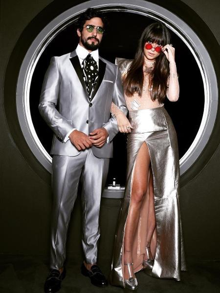 Thaila Ayala e Renato Góes na chegada ao baile da Vogue - Instagram/Reprodução