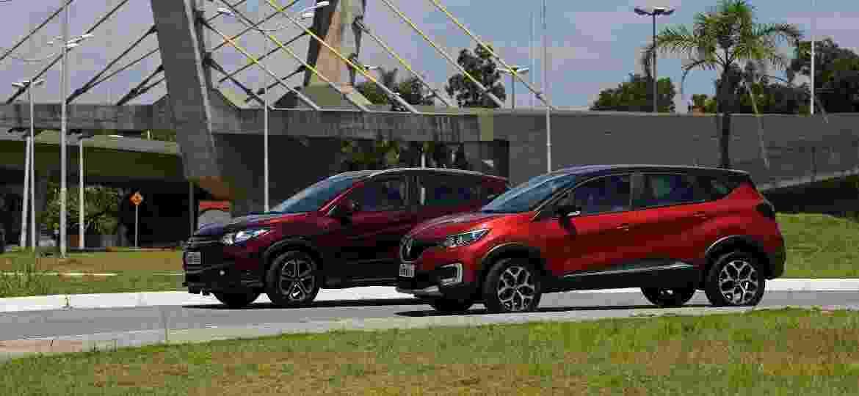 Honda HR-V e Renault Captur são exemplos de SUVs com carroceria grande para centros urbanos, mas espaços internos medianos - Murilo Góes/UOL