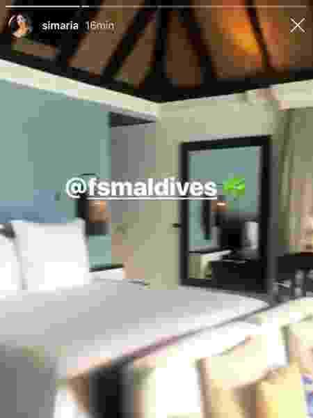 Simaria na Maldivas - Reprodução/Instagram/Simaria - Reprodução/Instagram/Simaria