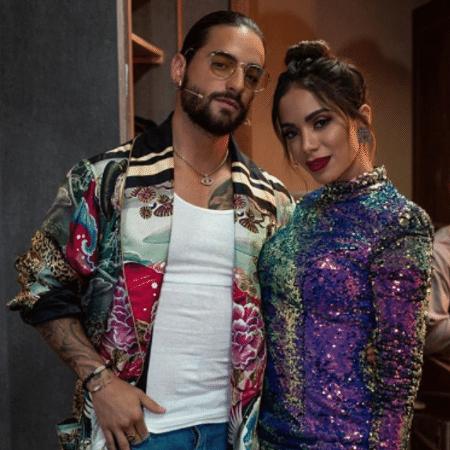 """Maluma e Anitta na versão mexicana do """"The Voice"""" - Reprodução/Instagram/foxmuller29"""