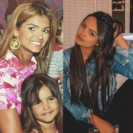 Antes e depois: filha de Kelly Key com 5 anos e hoje, com 17 - Reprodução/Instagram