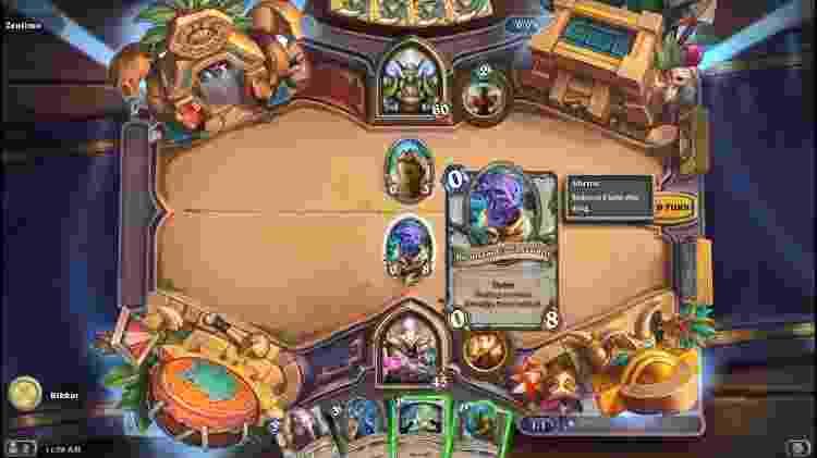 """""""Hearthstone"""", lançado em 2014 pela Blizzard, levou Warcraft para o universo das cartas - Reprodução"""