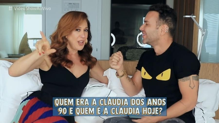 """Claudia Raia conversa com Matheus Mazzafera no """"Video Show"""" - Reprodução / TV Globo"""