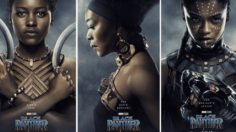 """As mulheres de """"Pantera Negra"""" - Reprodução - Reprodução"""