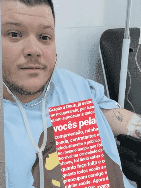 Ferrugem posta foto em hospital - Reprodução/Instagram
