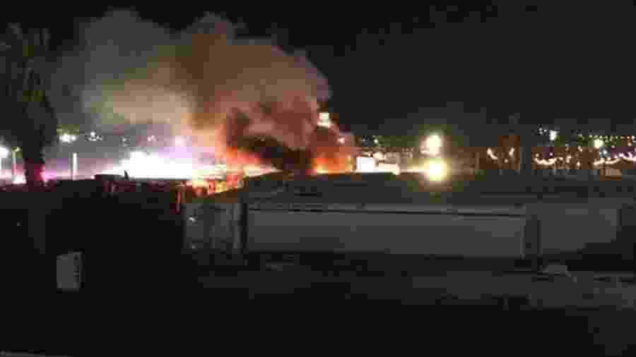 Incêndio atinge área de chuveiros no Coachella - Reprodução