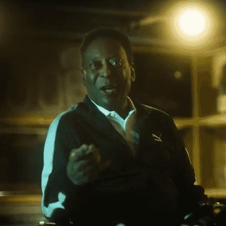 Pelé, em ação da Puma - Reprodução/YouTube