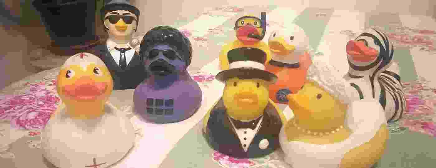 Patos de borracha que Gugu Liberato me presenteou nos últimos 20 anos - Arquivo Pessoal