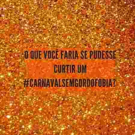 Campanha prega respeito à diversidade de corpos no Carnaval - Reprodução/Instagram