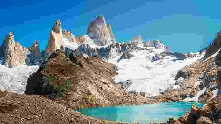 Fitz Roy, em El Chaltén, na Patagônia Argentina - iStock
