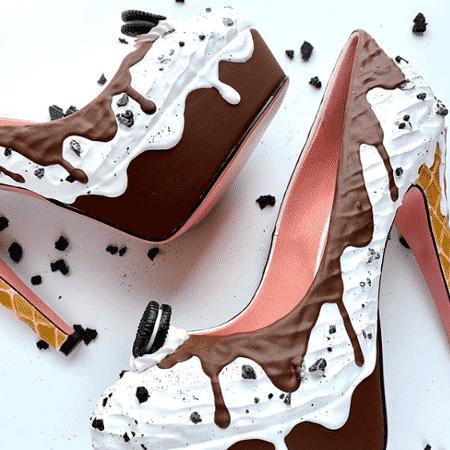 Dono da Shoe Bakery, o americano Chris Campbell cria sapatos e bolsas inspirados em sobremesas - Reprodução/Instagram