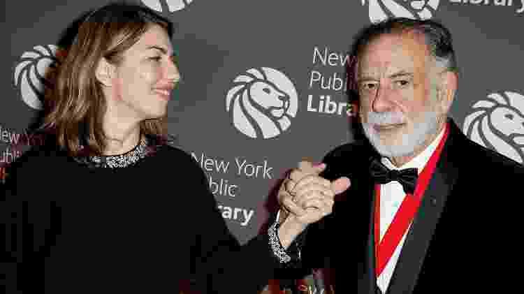 05.11.2018 - Sofia Coppola (à esq.) com o pai, Francis Ford Coppola, em evento em Nova York (EUA) - Dominik Bindl/Getty Images - Dominik Bindl/Getty Images
