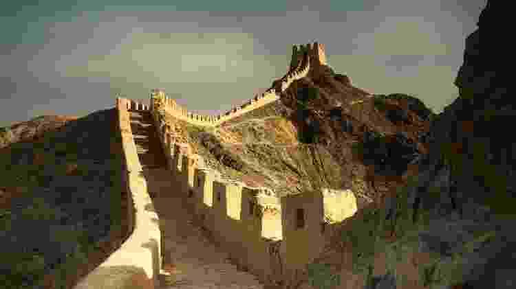 Muralha da China, um dos destaques da segunda etapa da viagem entre Nova Déli e Londres - Divulgação - Divulgação