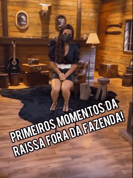 A Fazenda 2020: Raissa Barbosa, eliminada ontem, tem primeiros momentos fora do reality registrados por Marcos Mion - Reprodução/RecordTV