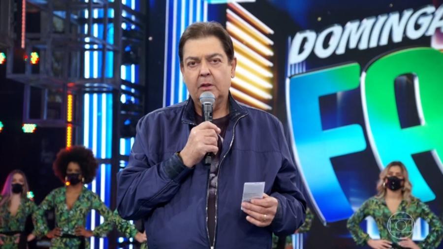 Fausto Silva foi substituído após tratar infecção urinária - Reprodução/TV Globo