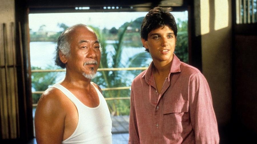 Senhor Miyagi com Daniel-San: sabedoria sobrou para o sensei - Columbia Pictures/Getty Images