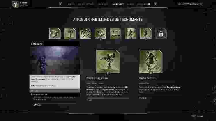 Outriders Atribuir habilidades - Daniel Esdras/GameHall - Daniel Esdras/GameHall