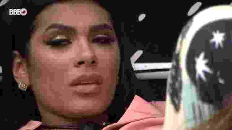 BBB 21: Pocah chora após levar Camilla de Lucas e Gilberto ao paredão - Reprodução/Globoplay - Reprodução/Globoplay