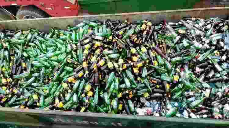 Garrafas de cerveja na logística reversa da Green Mining - Divulgação - Divulgação