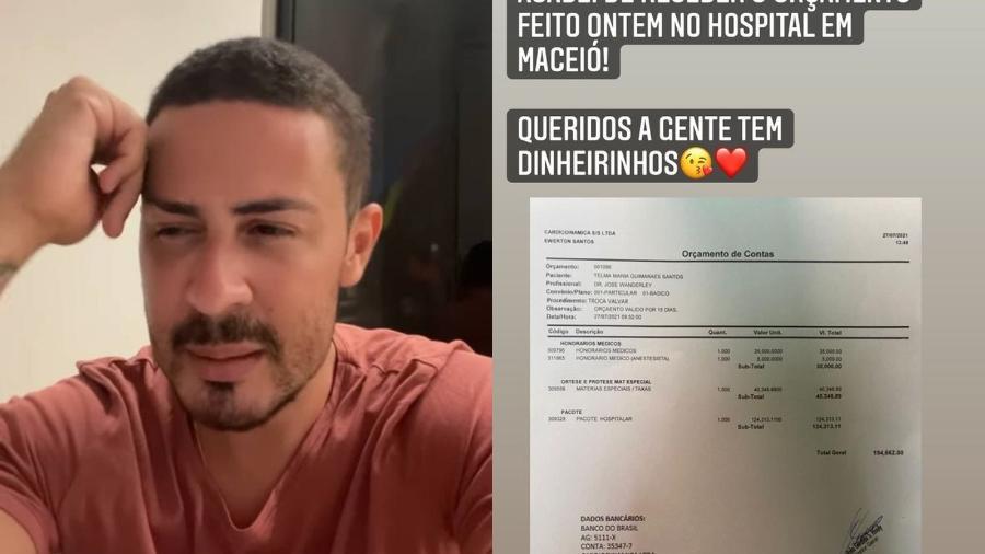 Carlinhos Maia nega permuta em cirurgia de coração da sogra - Instagram