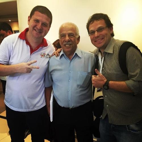 05.01.2016 - Jairo Roizen e Ronny Potolski com Seo Jamil, presidente da Acadêmicos do Tucuruvi, que tem família de origem árabe