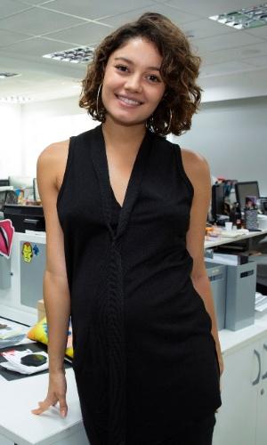 Grávida de sete meses, Sophie Charlotte foi ao Telecine gravar sua participação no