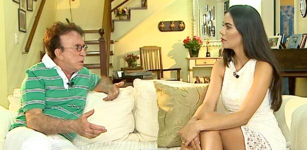 """Moacyr Franco dá entrevista a Daniela Albuquerque no programa """"Sensacional"""" - Divulgação"""