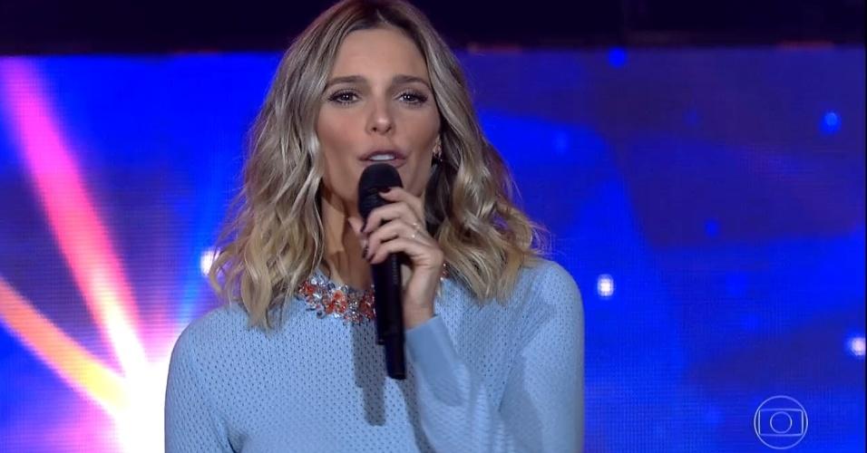 """17.abr.2016 - Fernanda Lima apresenta segundo episódio da terceira temporada do """"SuperStar"""""""