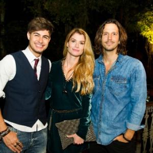 "Rafael Vitti, Alinne Moraes e Vladirmir Brichta formam triângulo amoroso em ""Rock Story"" - César Alves/TV Globo"
