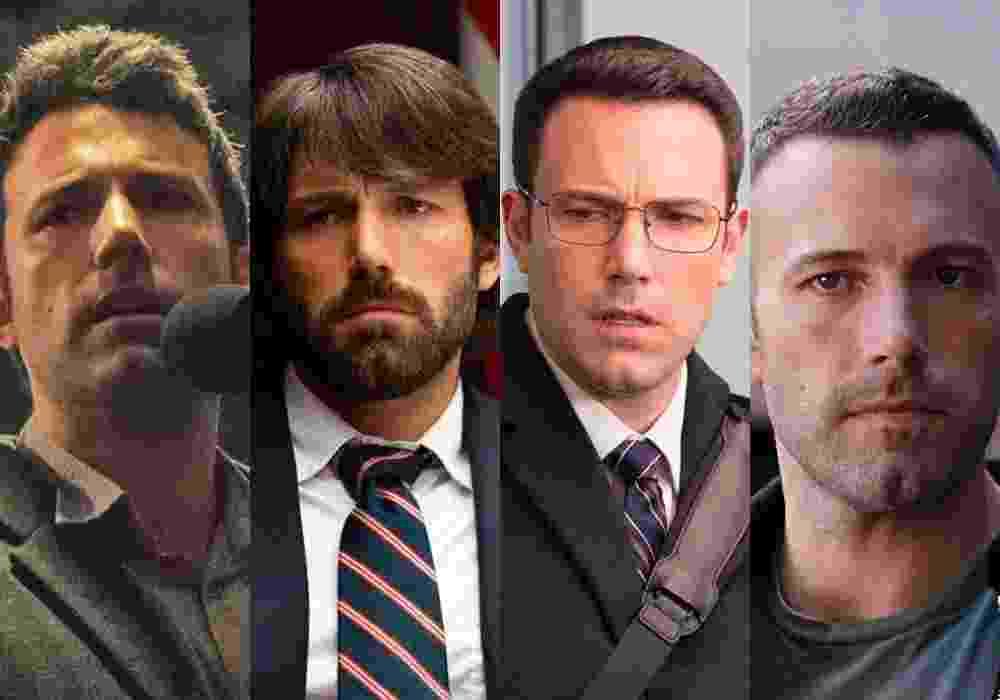 """Cenas dos filmes """"Garota Exemplar"""" (2014), de David Fincher, """"Argo"""" (2012), de Ben Affleck, """"O Contador"""" (2016), de Gavin O'Connor e """"Atração Perigosa"""" (2010), de Ben Affleck - Reprodução/Montagem"""