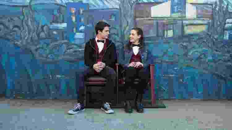 "Clay (Dylan Minette) e Hannah (Katherine Langford) em cena de ""13 Reasons Why"", da Netflix - Divulgação/Netflix - Divulgação/Netflix"