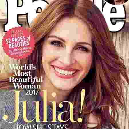 """Julia Roberts estampa capa da nova edição da revista """"People""""  - Reprodução/People"""