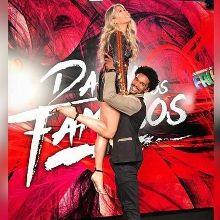 Adriane Galisteu e o coreógrafo Marcus Lobo  - Reprodução/Instagram