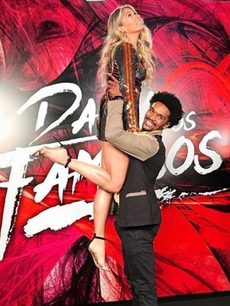 Adriane Galisteu e o coreógrafo Marcos Lobo  - Reprodução/Instagram