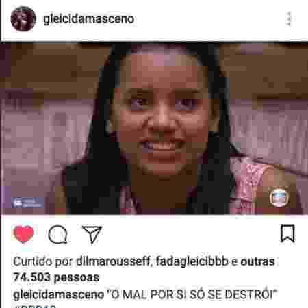 Dilma - Reprodução/Instagram - Reprodução/Instagram