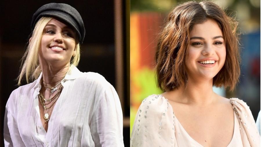 Miley Cyrus e Selena Gomez - Getty Images
