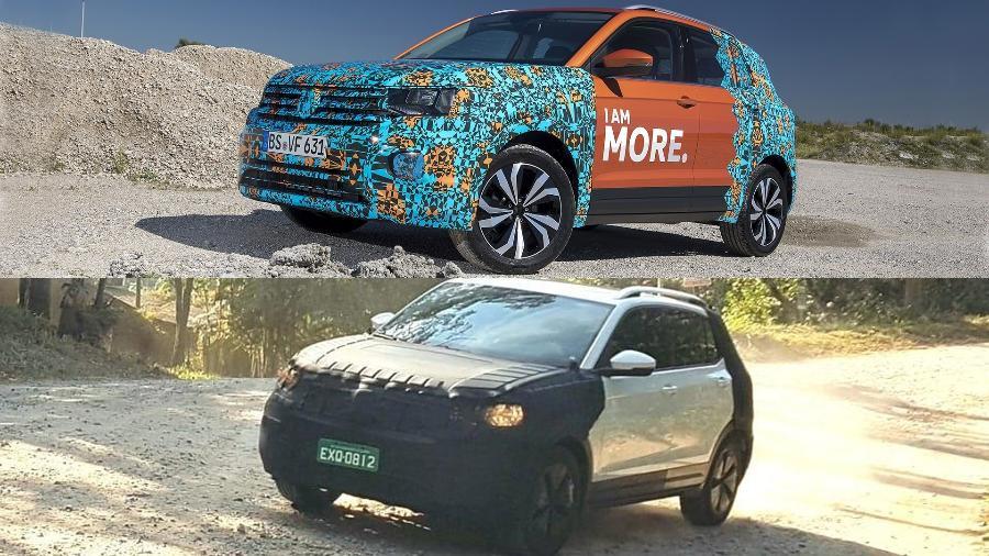 Volkswagen T-Cross europeu vs. brasileiro: modelos compartilham nome e plataforma, mas são bastante distintos entre si - Divulgação/Murilo Góes/UOL